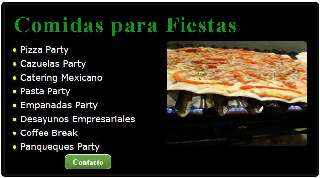 comida mexicana para fiestas, comida para fiestas, servicio de fiestas, cazuelas para fiestas, pizzas para fiestas, servicio de pastas para fiestas, servicio de comida mexicana para fiestas,