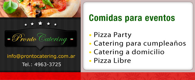 menus de comida para fiestas, pizza pronto menu, menus para fiesta, pizza party capital federal, pizza party a la parrilla a domicilio, servicio de pizzas a domicilio