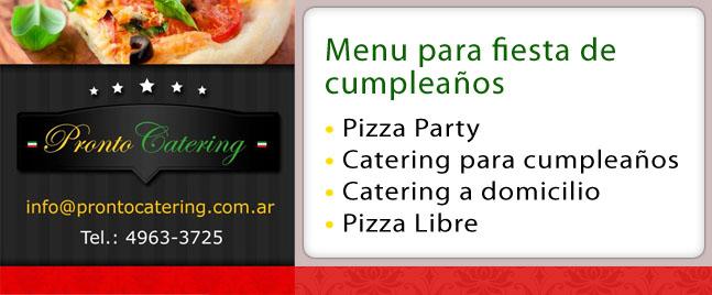 Cumpleaños y Eventos Pizza Libre para tu Evento Zona Norte Escobar